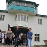 På vei inn i Sachsenhausen