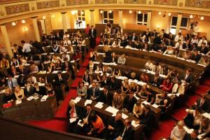 Over 200 ungdommer fra 32 europeiske land var samlet i bystyresalen i Zagreb for å debattere utfordringer i Europa.