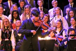 Peder Barratt-Due og alle de andre elevene imponerte i Konserthuset.