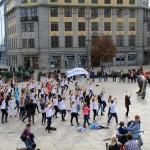 Flashmob på Jernbanetorget