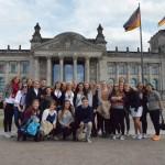 Hele gruppa ved Bundestag