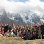Hele gruppa i Alpene