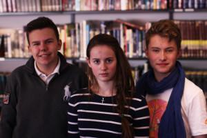 Fredrik, Sofie og Øistein i 10A