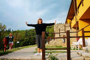 Dirigent Marit trives i solen